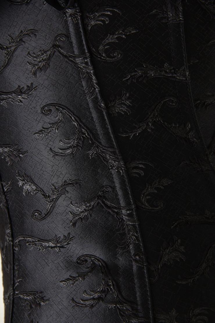 Steel Boning corset, ruffle tie straps corset, embroidered corset, #M4308