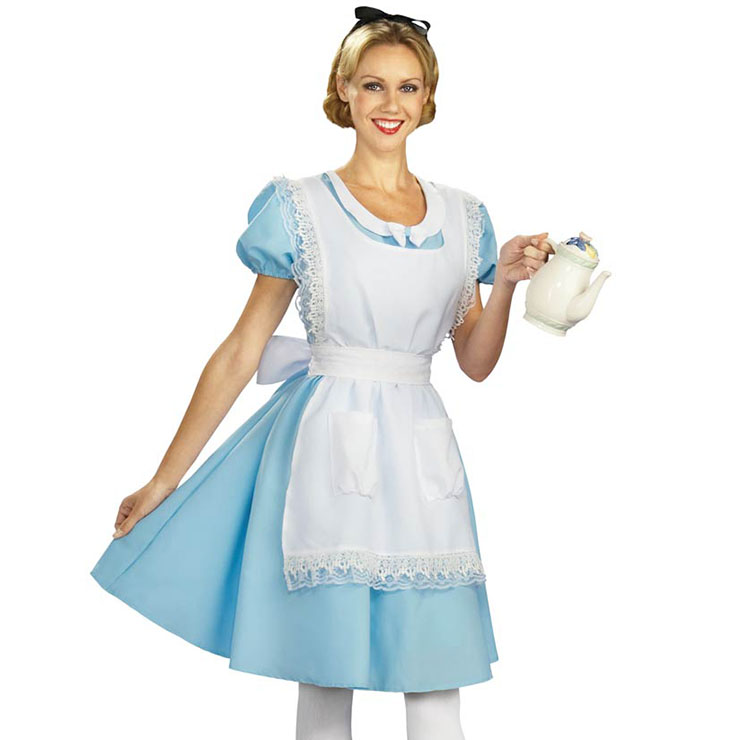 Sexy Halloween Costumes , Alice in Wonderland Costumes , Fairy Tale Costume, Cartoon Character Costume, Alice Cosplay Adult Costume, #N16123