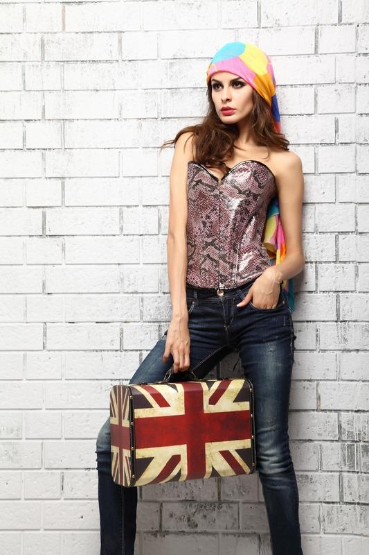 Snake Skin corset, Snake Skin Pink Corset, Strapless corset, #N4670