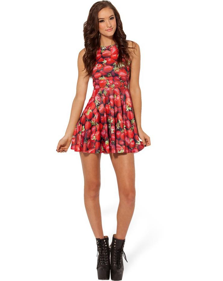 Мини-платье клубничного цвета