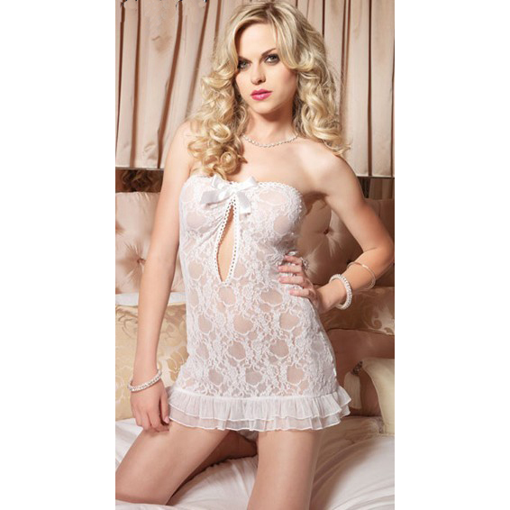 Stretch lace strapless chemise C3255