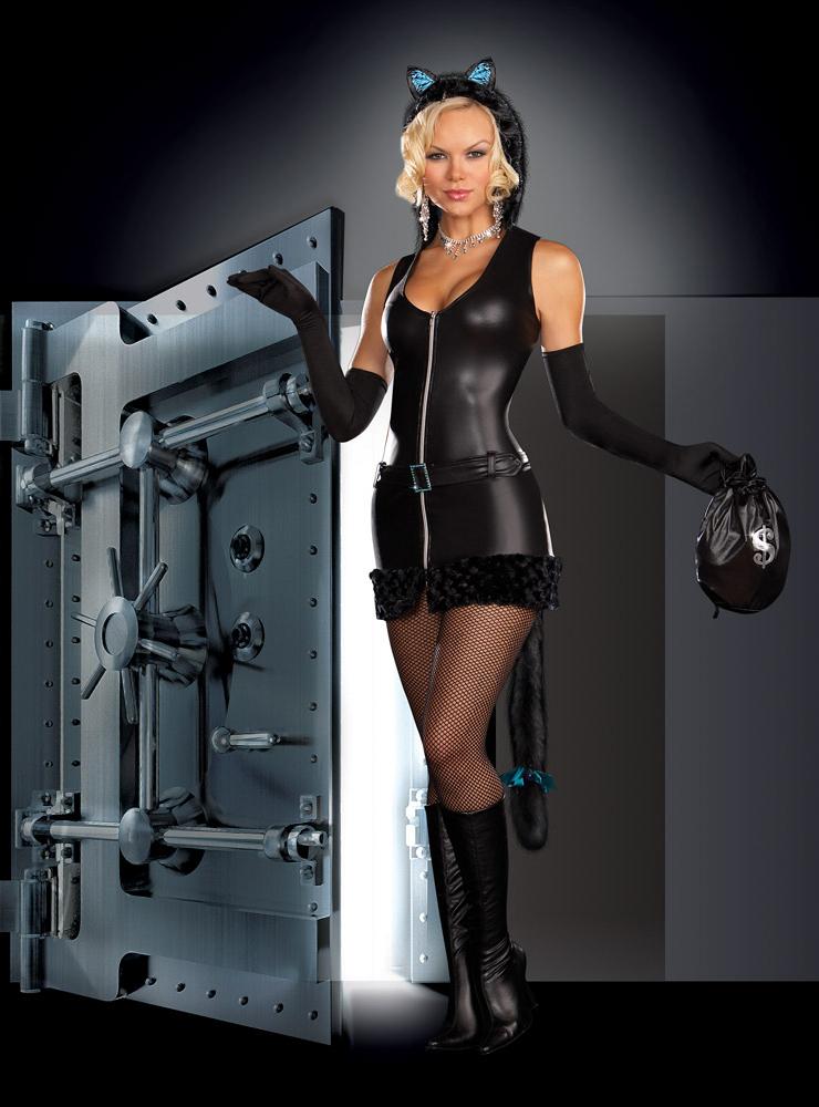 Cat Burglar Costume, Cat Woman Costume, Burglar Costume, #N4384