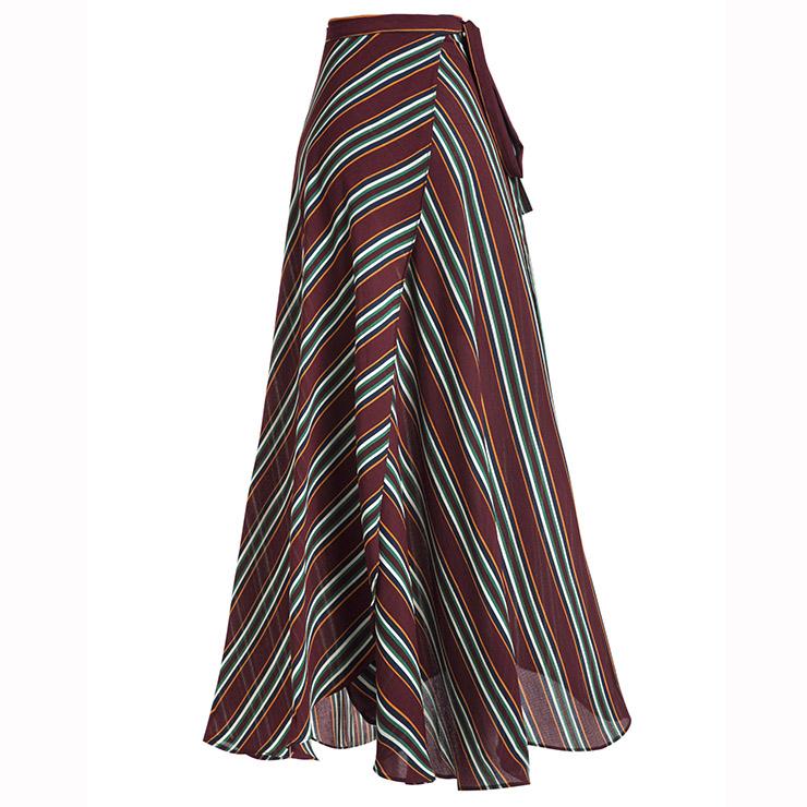 Sexy Skirt for Women, Sexy Skirts, Mid-Calf Skirt, Mid-Waist White Skirt, Women Skirts, High-Waist Asymmetrical Skirt, Side Split Skirts, #N14922