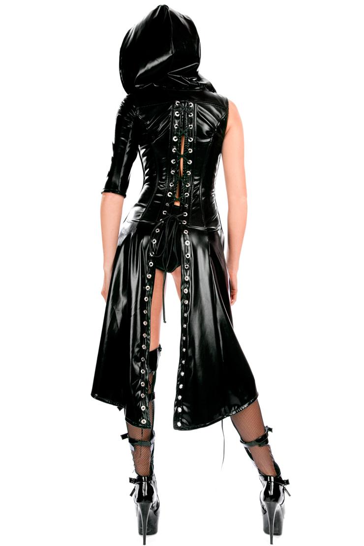 sucker punch sweet pea black hooded coat costume n10400