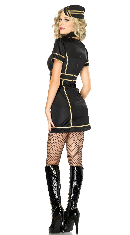 Sultry Stewardess Costume, Sexy Flight Attendant Costume, Sexy Stewardess Costume, #N2436