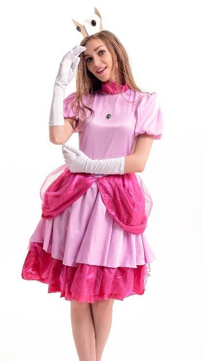 Fairy Tale Costume Super Mario Costume Cheap Princess Costume Women  sc 1 st  MallTop1.com & Super Mario Adult Princess Peach Costume N10948