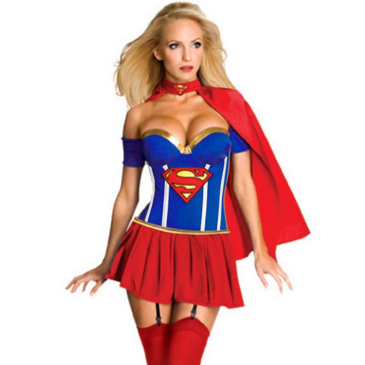 4PC Supergirl Corset Costume N1502