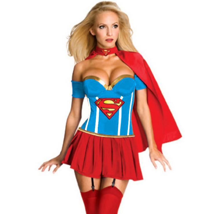 4PC Supergirl Corset Costume N5240