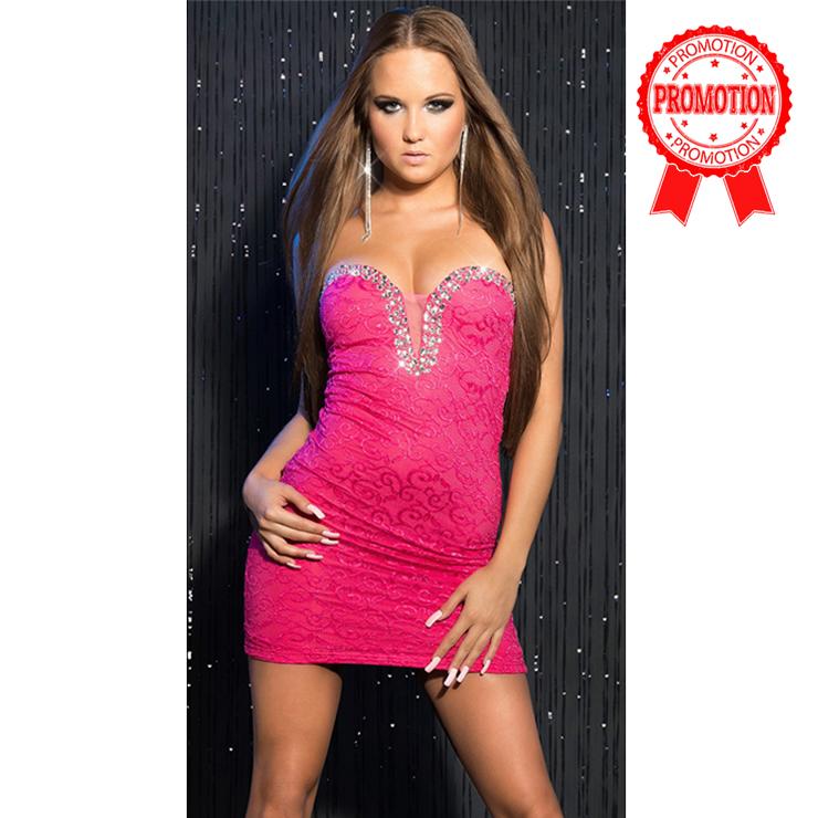 Sweet Rhinestone Studs Dress N8208