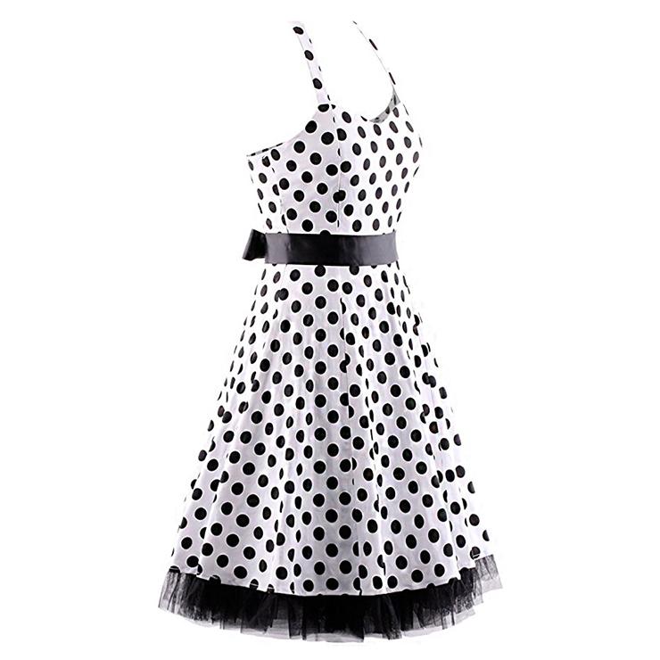 Retro Dresses for Women, Vintage Dresses for Women, Sexy Dresses for Women Cocktail Party, Casual Mini dress, Polka Dot Swing Daily Dress, #N14839