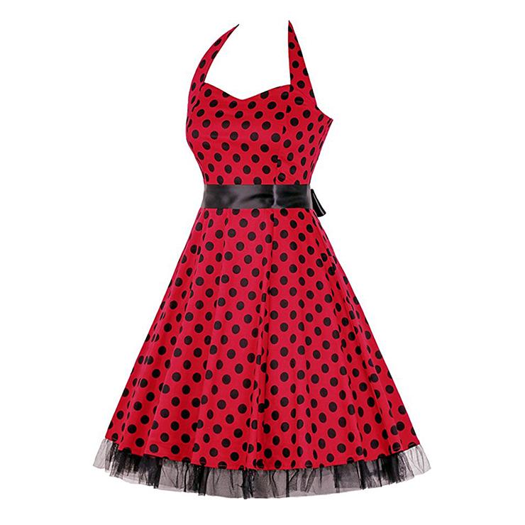 Retro Dresses for Women, Vintage Dresses for Women, Sexy Dresses for Women Cocktail Party, Casual Mini dress, Polka Dot Swing Daily Dress, #N14840