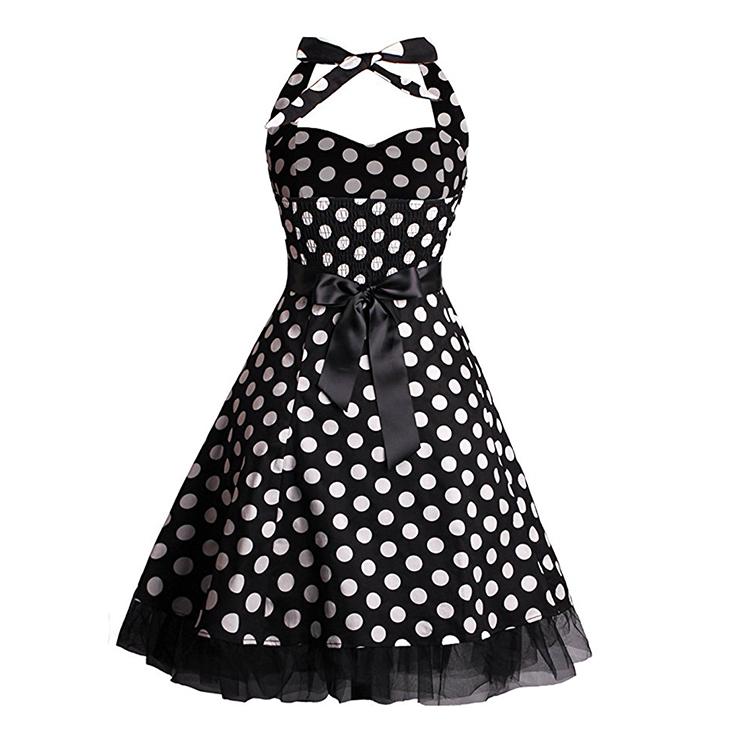 Retro Dresses for Women, Vintage Dresses for Women, Sexy Dresses for Women Cocktail Party, Casual Mini dress, Polka Dot Swing Daily Dress, #N14841