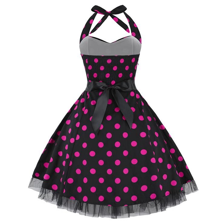 Retro Dresses for Women, Vintage Dresses for Women, Sexy Dresses for Women Cocktail Party, Casual Mini dress, Polka Dot Swing Daily Dress, #N14843
