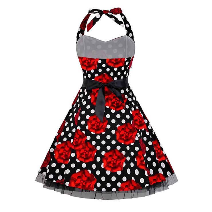 Retro Dresses for Women, Vintage Dresses for Women, Sexy Dresses for Women Cocktail Party, Casual Mini dress, Polka Dot Swing Daily Dress, #N14845