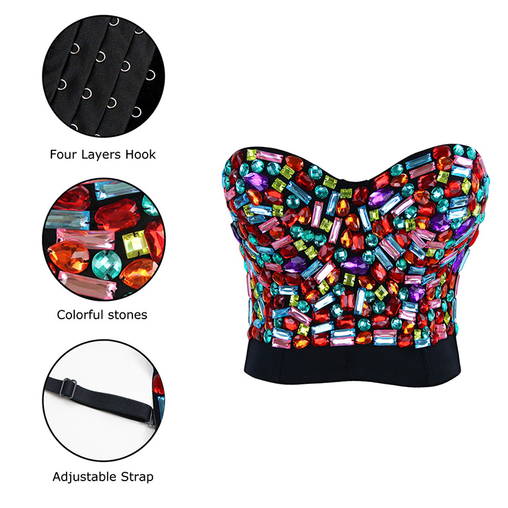Sweets Studded Gem B Cup Bustier Bra, B Cup Bustier Bra, Sweets Studded Gem Bustier Bra, #N6387