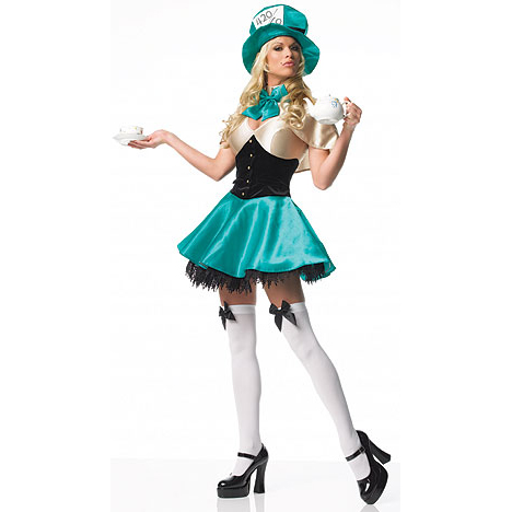 Tea Party Hostess Costume, Tea Party Princess Costume, Sexy Tea Party Hostess Costume, #N2724