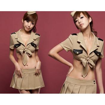 Temptation Self-Tie Military Costume N8465
