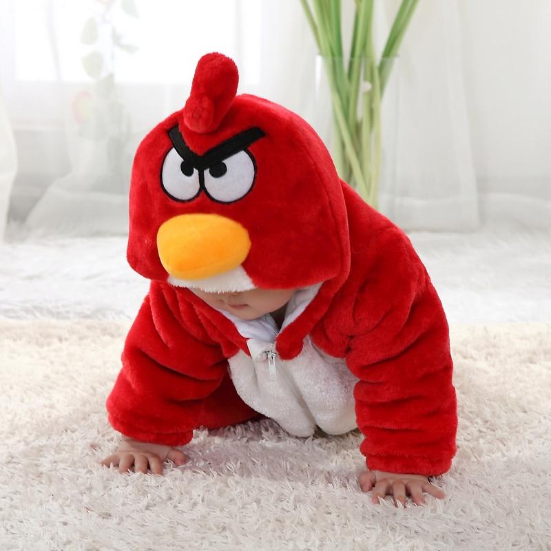 Anger Bird Jumpsuit Baby, Cartoon Star Costume Baby, Red Bird Climbing Clothes baby, #N6279