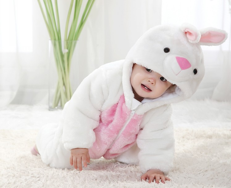 three layers little white rabbit jumpsuit n6275