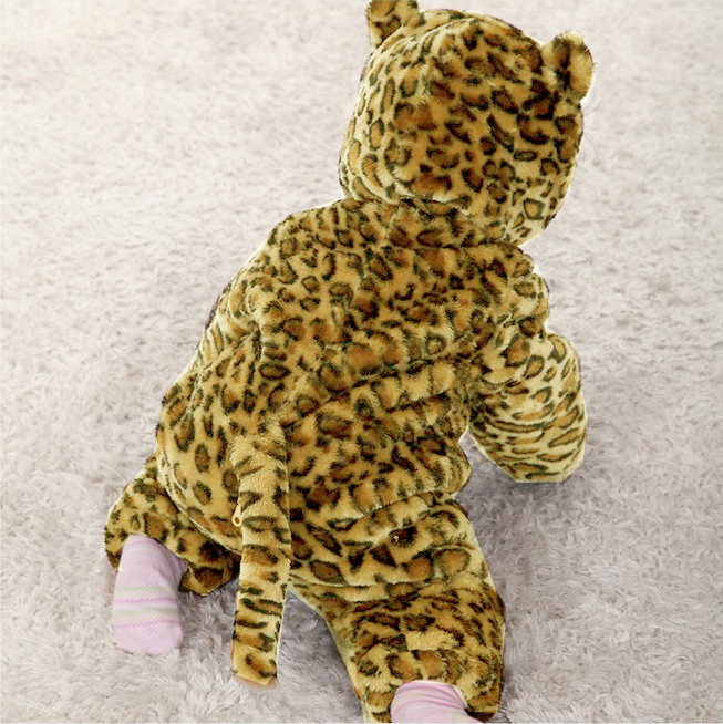 Leopard Romper Jumpsuit Baby, Halloween Leopard Costume Baby, Pecuniary Leopard Climbing Clothes Baby, #N6269