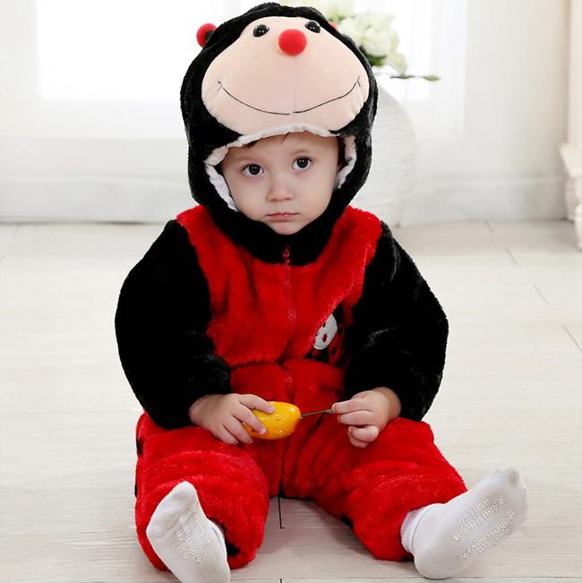 Three Layers Red Ladybug Jumpsuit N6294