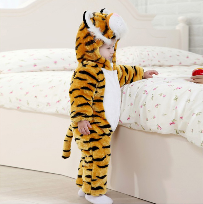 Tiger Romper Jumpsuit Baby, Halloween Tiger Costume Baby, Tiger Climbing Clothes Baby, #N6264