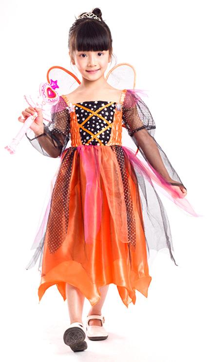 Girls Halloween Costumes, Toddler Pumpkin Witch Costume, Halloween Costumes for Kids, #N5923