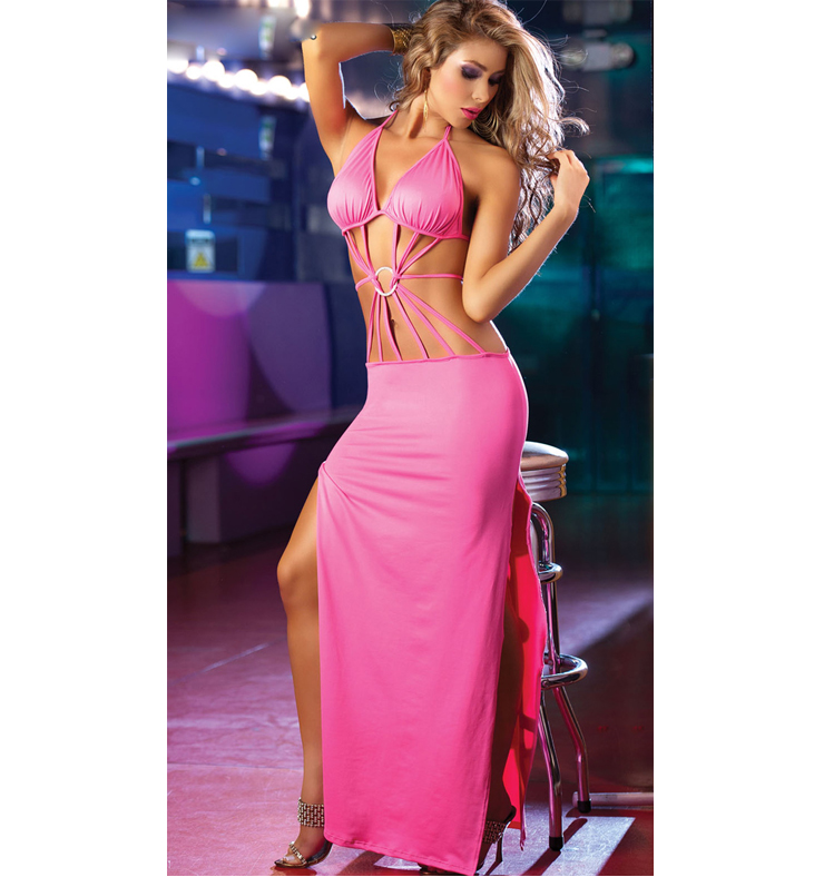 Long Strappy Front Gown N3377