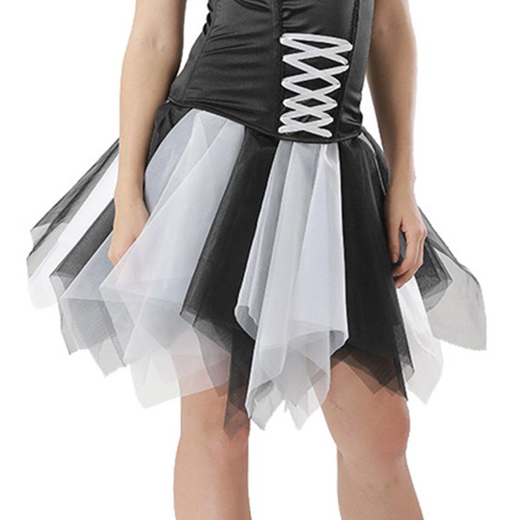Mesh Skirt, Ballerina Style Skirt, Sexy Tulle Skirt, Tutu Tulle Mini Petticoat, Zigzag Tulle Mesh Skirt, Elastic Tulle Skirt, #HG15002