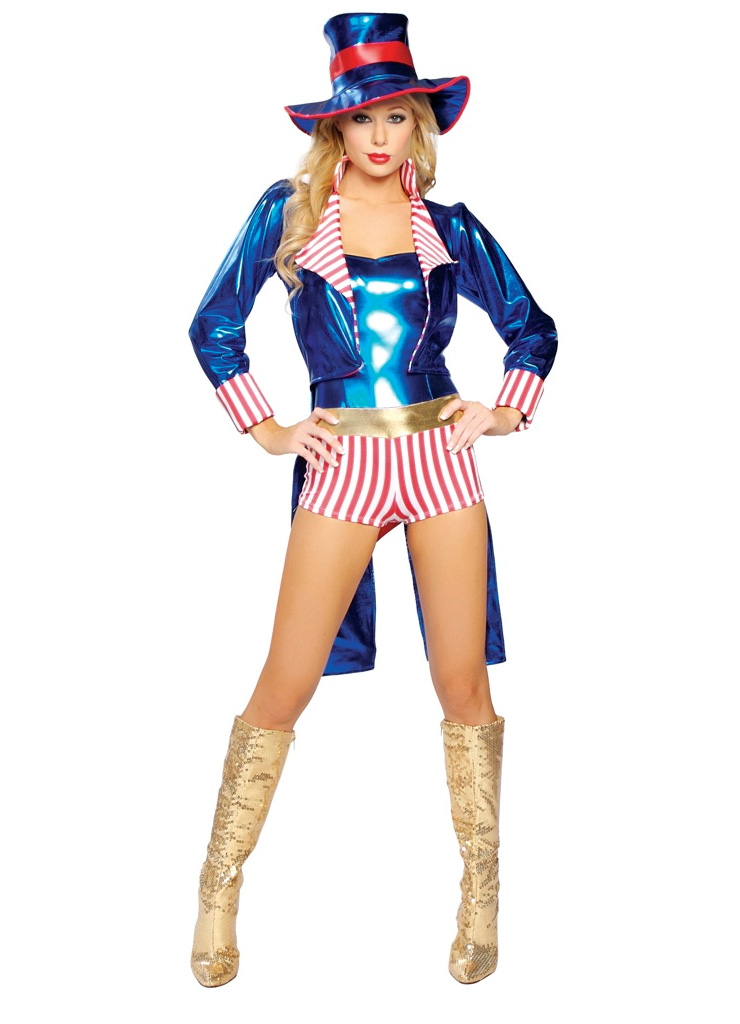 Uncle Samantha Adult Fancy Dress Costume, Uncle Sam Costume, Uncle Samantha tuxedo jacket, #N5768