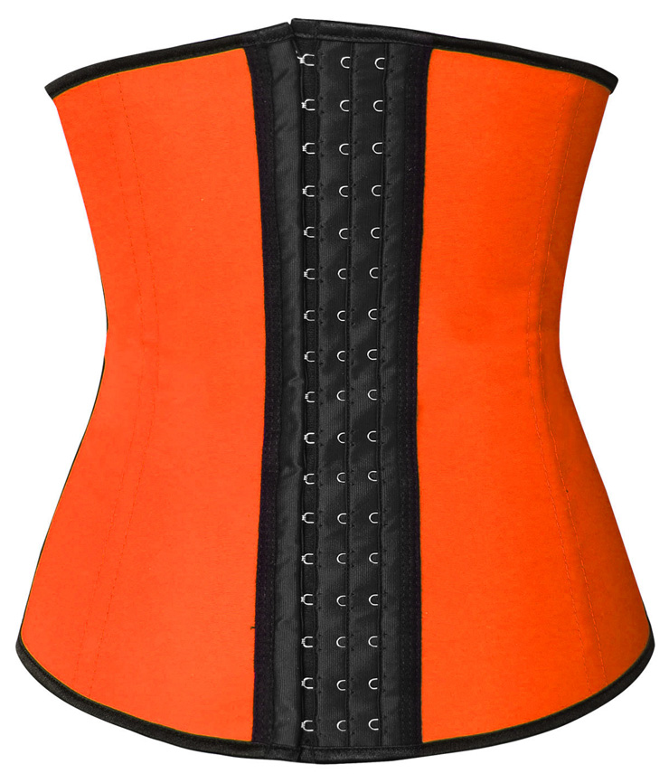 Latex Underbust Corset, Elastic Body Shaper Bustier, High Quality Orange Steel Bone Underbust Corset, Plus Size Corset, #N10249