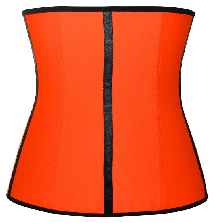 Latex Underbust Corset, Elastic Body Shaper Bustier, High Quality Orange Steel Bone Underbust Corset, Plus Size Corset, #N10249