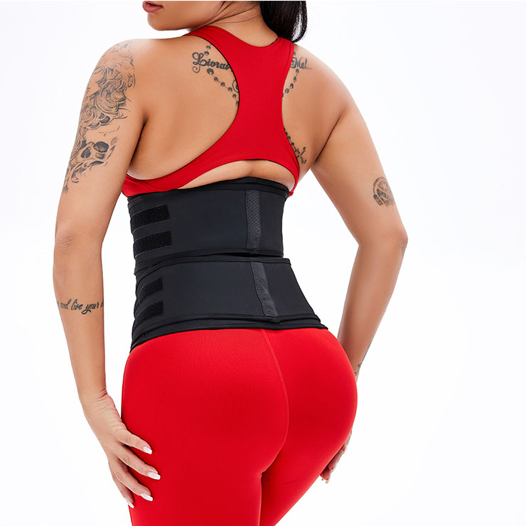 Waist Gym Trainer Corset, Waist Trainer Cincher Belt, Slimmer Body Shaper Belt, Cheap Sport Gym Waist Cincher Belt, Removable Velcro Corset Belt, Waist Trainer Belt, #N20887