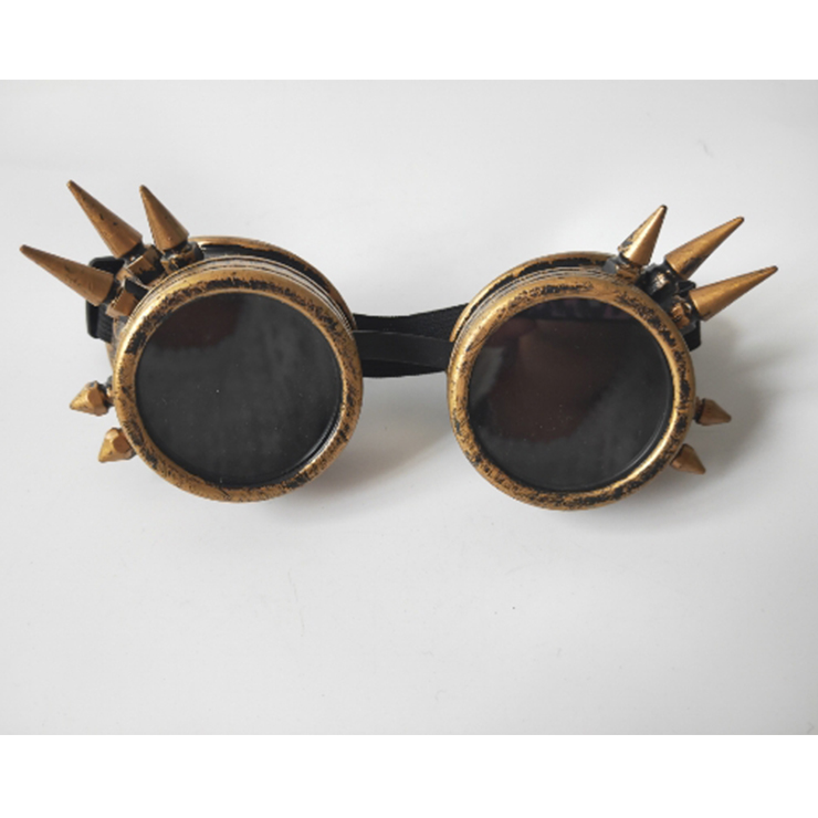 Steampunk Antiqued Bronze Metallic Color Rivet Masquerade Party Accessory Glasses Goggles MS19510