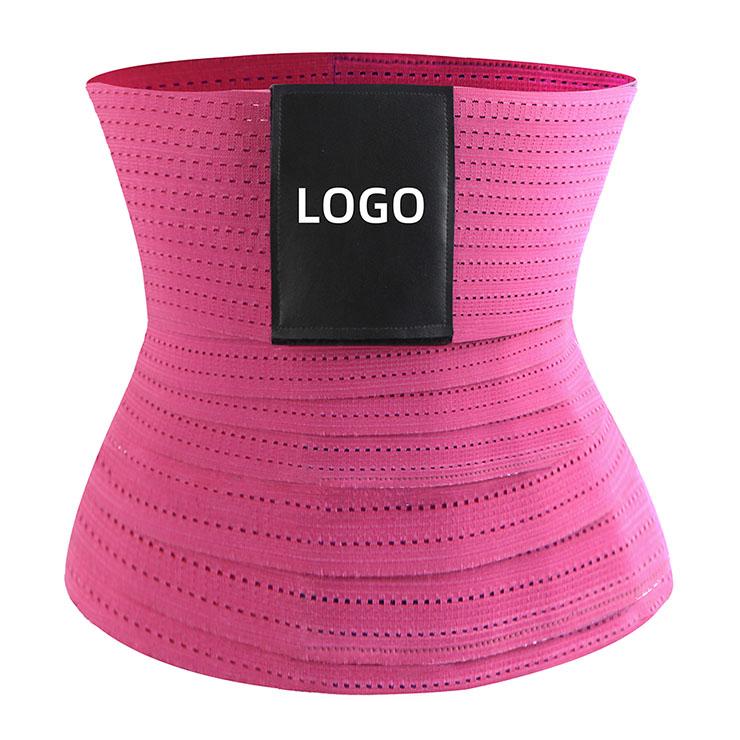 Unisex Elastic Waist Cincher Velcro Breathable Sports Fitness Workout Body Shaper Belt N21471