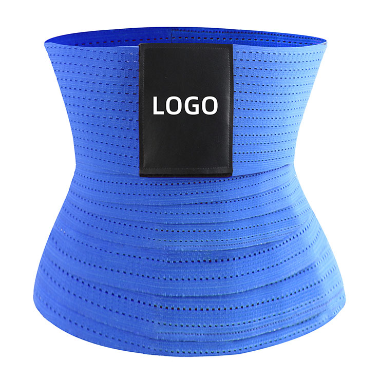 Unisex Elastic Waist Trimmer Girdle Cincher Velcro Breathable Sports Workout Body Shaper Belt N21472