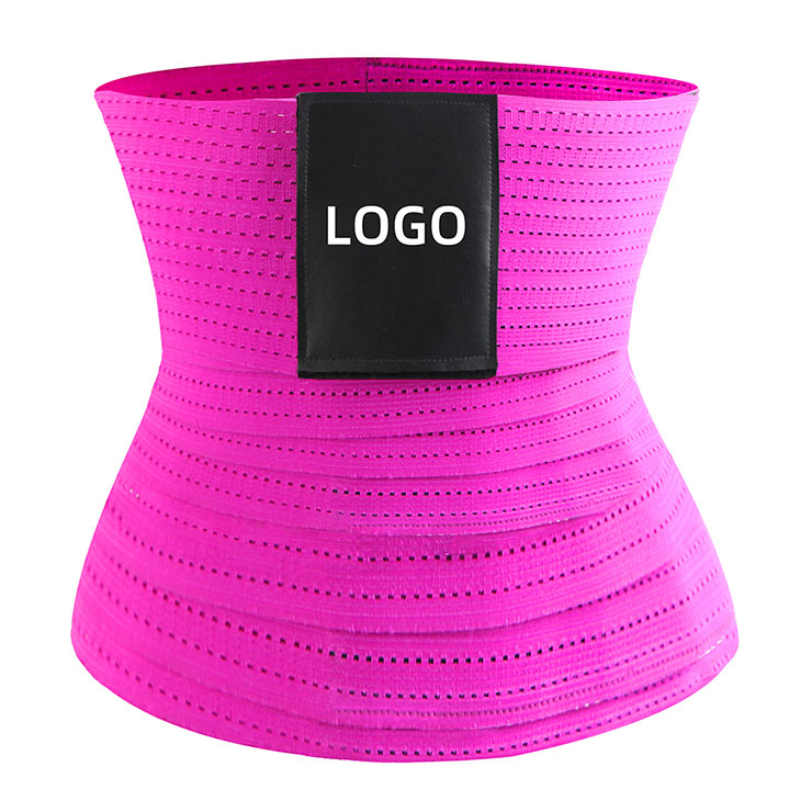 Unisex Elastic Waist Cincher Velcro Girdle Breathable Sports Workout Fitness Body Shaper Belt N21473