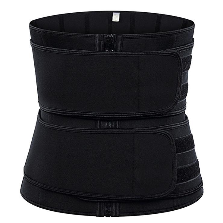 Fashion Black Neoprene Velcro Sports Waist Trainers Gym Body Shaper Waistband N20870