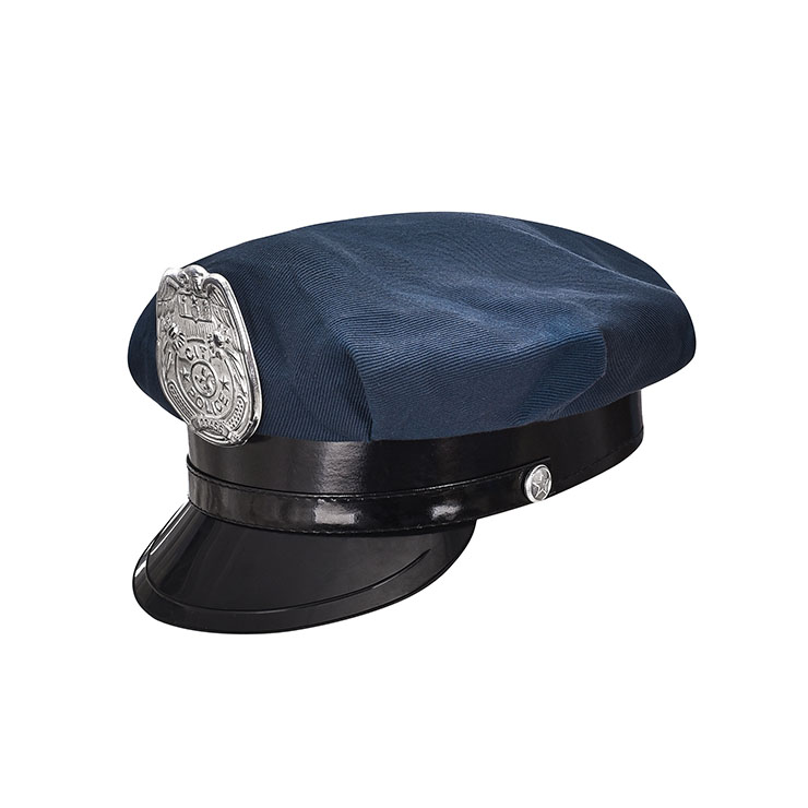Police Masquerade Party Costume Hat,Halloween Cosplay Costume Hat, Navy-blue Police Cap ,Fashion Party Costume Hat Accessory, Fancy Unisex Adult Roleplay Hats, Unisex Costume Hat, #J20864