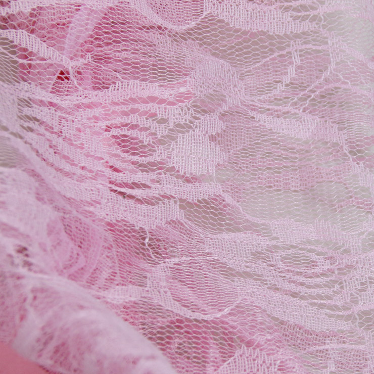 Sheer Lace Babydoll, Pink Backless Lace Babydoll, Lace Sleepwear Dress Pink, Floral Lace Babydoll Lingerie, V Neck Lace Babydoll Lingerie, #N17296