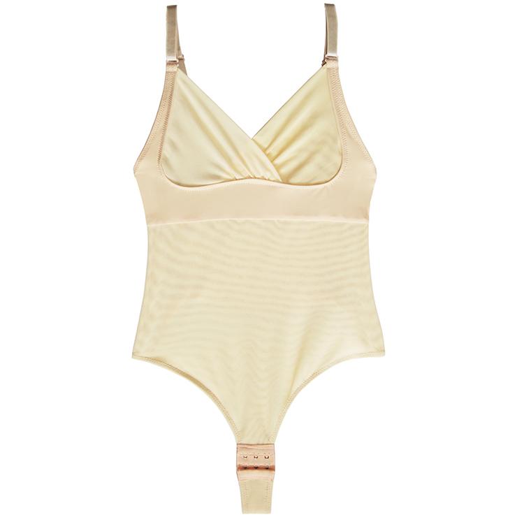 Sleepwear for Women, Sexy Bodysuit, Cheap Romper Lingerie, Spaghetti Straps Bodysuit, Beige Bodysuit for women, Plus Size Bodysuit, Slimmer Shapewear for Women, #N15266
