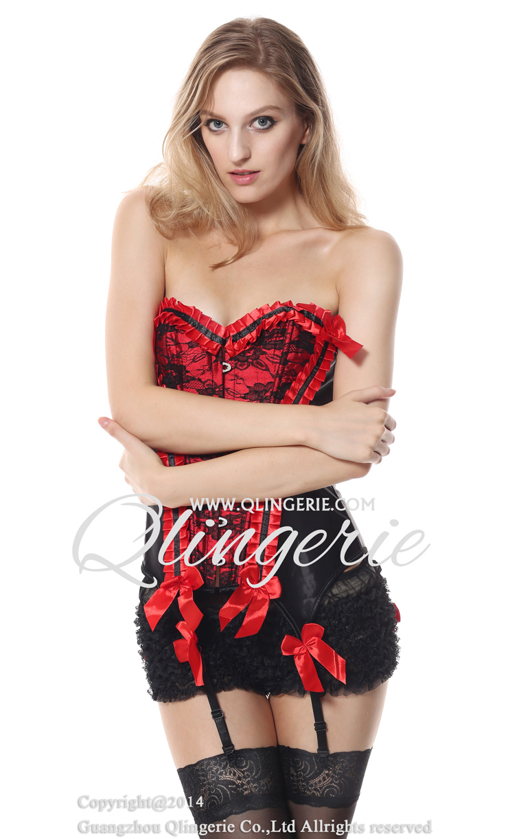 Valentina Corset, Burlesque Corset, satin & Lace Corset, #N4296