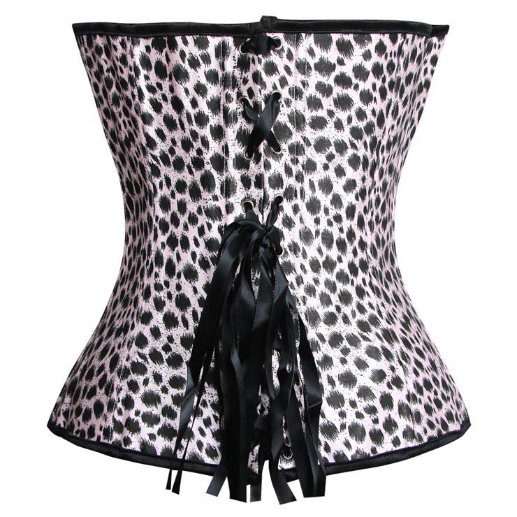Velvet Leopard Strapless Corset, Strapless Corset, Velvet Leopard Corset, #N1848