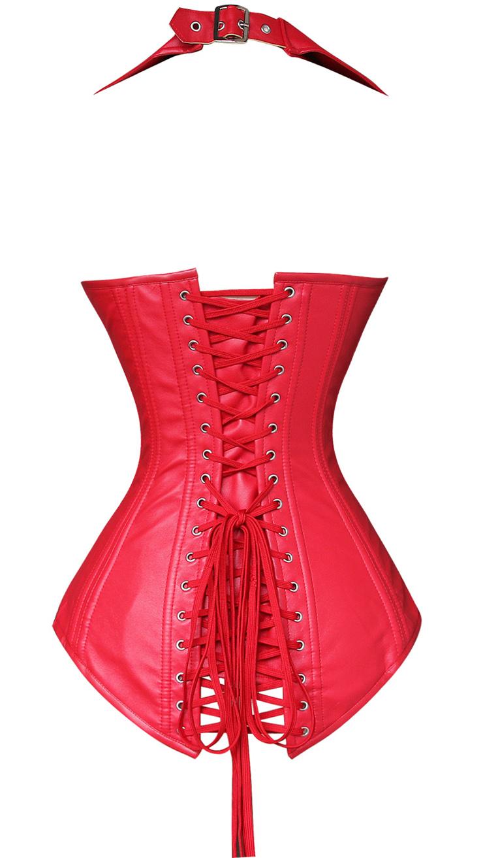 2pcs Vest Leather Corset, Vest Leather Corset Red, Leather Corset Red, Christmas Corset, #N4391