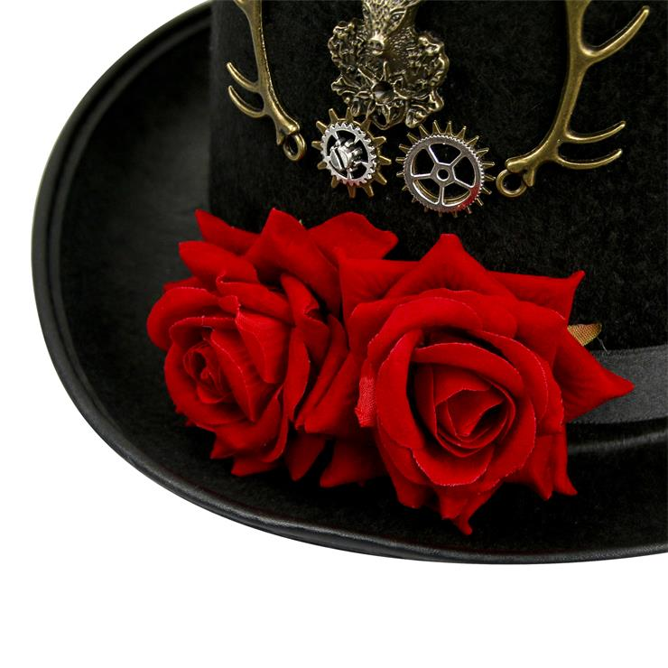 Fancy Masquerade Party Costume Hat, Steampunk Cosplay Costume Hat, Retro Fascinator Fancy Ball Bowler Hat, Vintage Industrial Style Vampire Costume Hat, Fashion Party Costume Hat Accessory, Fancy Victorian Gothic Fascinator, Gothic Style Costume Hat, #J19527