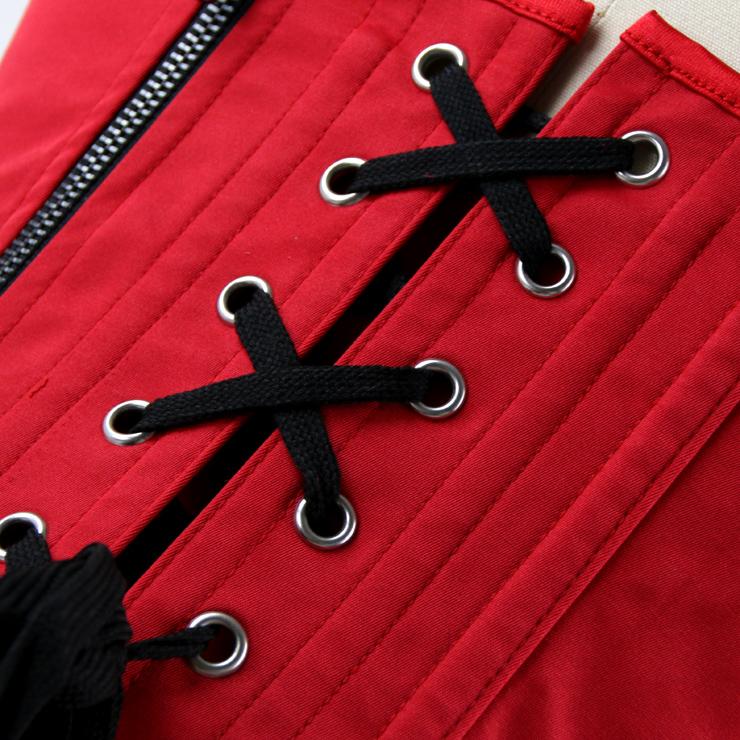 Brocade Embroidery Underbust Corset, Steel Bone Corset, Steel Boned Brocade Corset, Steampunk Overbust Corset, #N14111