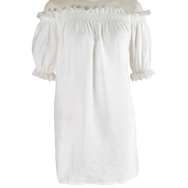 Sexy Peasant Ruffle Off Shoulder Blouse N11857