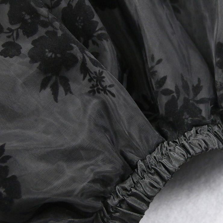 Steampunk Skirt, Satin Skirt for Women, Gothic Cosplay Skirt, Halloween Costume Skirt, Plus Size Skirt, Pirate Costume, Elastic Skirt, #N14104