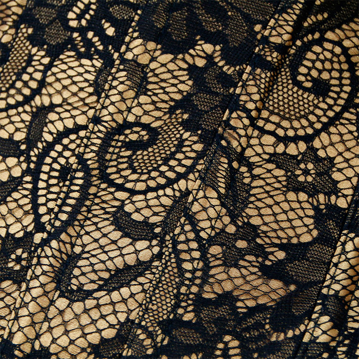 Heavy Plastic Boned Corset, Cheap Outerwear Corset, Retro Overbust Corset, Sexy Off Shoulder Corset, Black Lace Jacquard Overbust Corset, Victorian Gothic Waist Cincher, #N18261