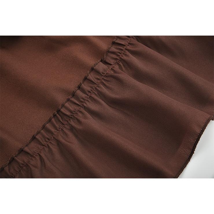 Steampunk Skirt, Gothic Cosplay Skirt, Halloween Costume Skirt, Pirate Costume, Elastic Skirt, Short Front Ruffle Skirt, Gothic Multi-layered Ruffle Skirt, #N18793